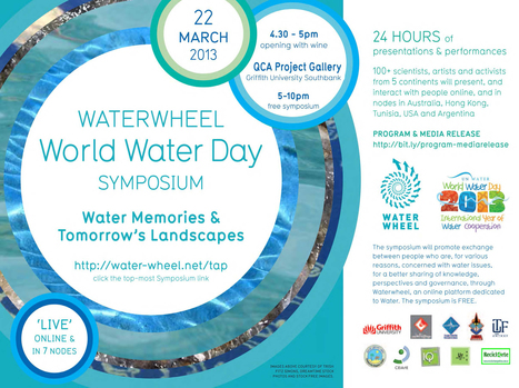 QCA Griffith » Waterwheel World Water Day Symposium | Social Art Practices | Scoop.it