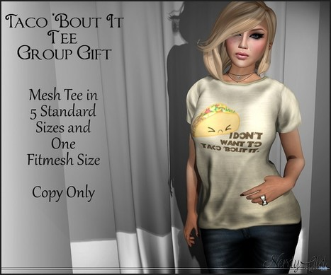 Taco About It Tee September 2015 Group Gift by Nerdy Girl | Teleport Hub - Second Life Freebies | Second Life Freebies | Scoop.it
