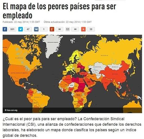 Si vas a emigrar -> Mapa de los Peores Países para ser Empleado y las zonas mas densamente pobladas del mundo | @AraujoFredy | Scoop.it