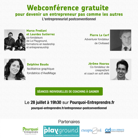 Webconférence : devenir un entrepreneur postconventionnel | Entrepreneurs du Web | Scoop.it