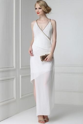 Irregular Chain Detail Halter Dress - OASAP.com | Online Fashion | Scoop.it