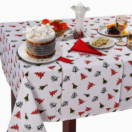 Beautiful And Attractive Christmas Vector Tree Print Tablecloth | Home Accessories ! | Scoop.it