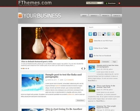 25 Awesome Free Business WordPress Themes   Get your PSD's Converted to HTML   Scoop.it