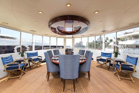 STEP INSIDE THE BESPOKE INTERIOR OF THE M/Y BREAD LUXURY YACHT BY ANNIE SANTULLI DESIGNS | livin spaces | Yachting | Scoop.it