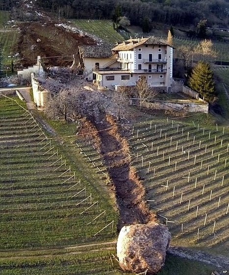 Boulder smashes through Italian farm | Architecture and Architectural Jobs | Scoop.it