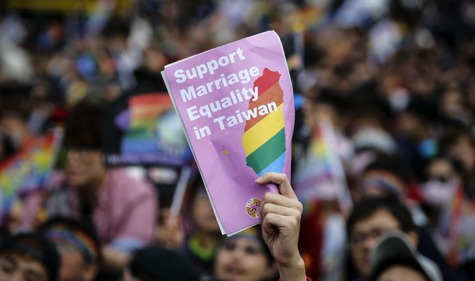 Photos: Thousands in Taiwan call on their government to be the first in Asia to legalize gay marriage