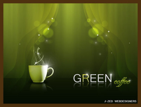 Green coffee : composition sous Photoshop | | Photoshop Design | Scoop.it
