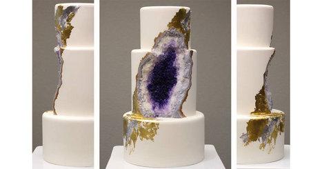 Amethyst Geode Wedding Cake | Conformable Contacts | Scoop.it