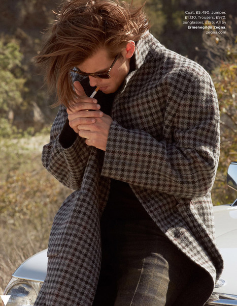 Matt Trethe for British GQ January 2014 | Male Models Smoker | Scoop.it