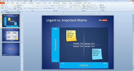 Free Urgent vs. Important Matrix Template for PowerPoint | Say Something | Scoop.it