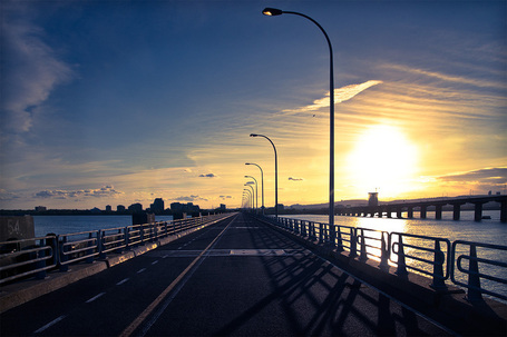 Urban Landscape: Ice Bridge Sunset (Montreal) | PhotoTraces | Looks -Pictures, Images, Visual Languages | Scoop.it