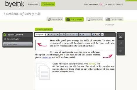 Byeink, un servicio para editar y publicar tus propios libros electrónicos | EVA | Scoop.it