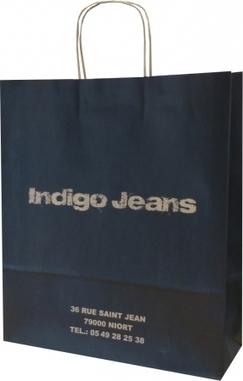 Le sac en papier réalisé pour Indigo Jeans - sac papier poignées torsadées magasin - Le Sac Publicitaire   Sac papier publicitaire   Scoop.it