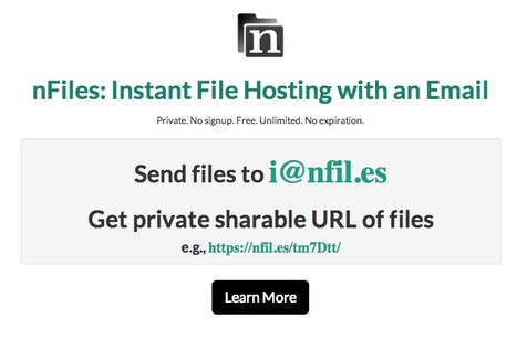 Archive, Share and Instantly Publish Any File or Content Online via Email: nFiles | Web Publishing Tools | Scoop.it