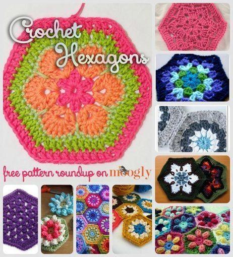 Happy Hexies: 10 Free Crochet Hexagon Patterns! - moogly | For DIY'ers | Scoop.it