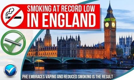 UK Health Officials Embrace Vaping & Smoking Plummets   E Cig - Electronic Cigarette News   Scoop.it