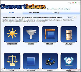 Conversions d'unités sen ligne_ trois services gratuits ~ ZinfosWeb | Tout le web | Scoop.it