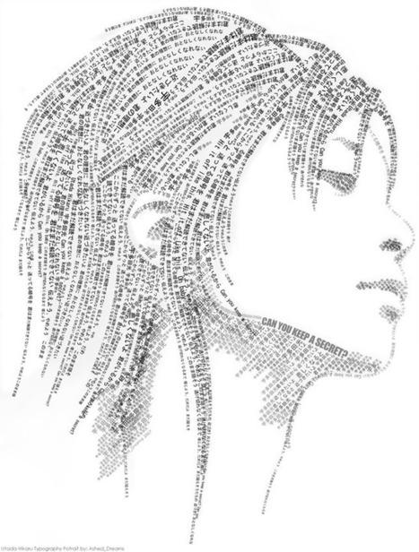 Utada Hikaru Typo Portrait | ASCII Art | Scoop.it