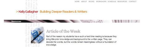Kelly Gallagher – Writing Resources | K-12 Common Core Resources for English Language Arts (CCSS ELA) | Scoop.it