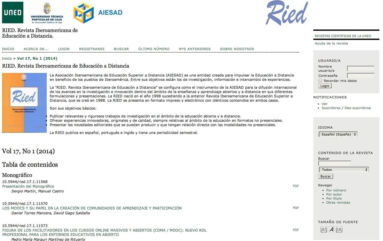 Arranca el Blog de la RIED
