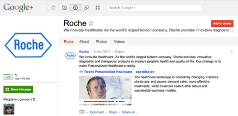Roche and Pfizer launch pharma's first official Google+ pages | Healthcare Relationship Marketing | Scoop.it