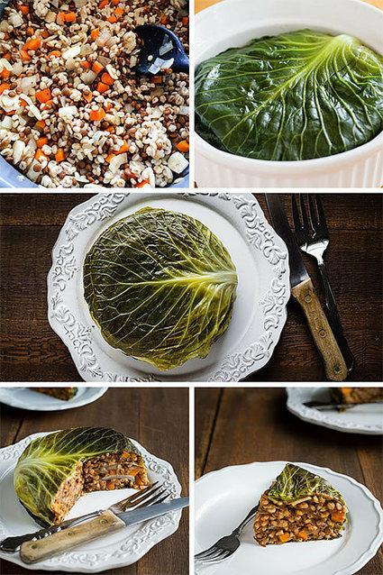Vegan Chou Farci (Cabbage Stuffed with Barley and Lentils) | My Vegan recipes | Scoop.it