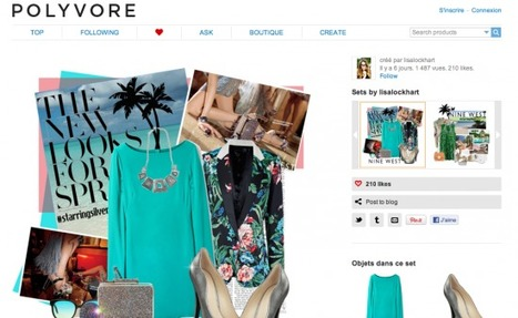 Il y a Pinterest… mais aussi les autres (Polyvore, TheFancy, Shopstyle…) | e-marketing, le couteau suisse | Scoop.it