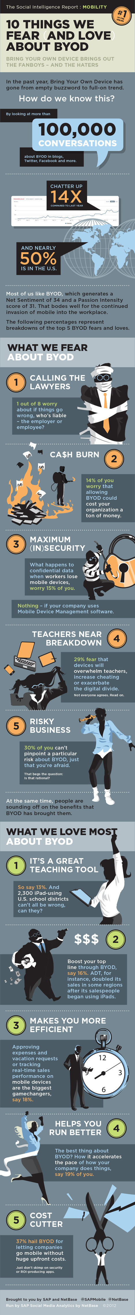 Infographic: The Ten Things We Fear (And Love) About BYOD | omnia mea mecum fero | Scoop.it