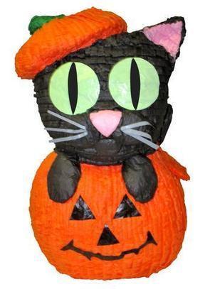 Medium Cat in Pumpkin Pinata | Pinatas | Scoop.it