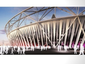 London's Olympic Stadium Scores High-Tech Wrap from Dow | sustainable architecture | Scoop.it