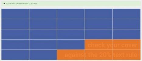 Couvertures Facebook : un outil pour vérifier la règle des 20% | entrepreneur, social media and new technology | Scoop.it