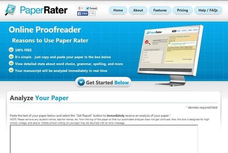 PaperRater: 英文のブラッシュアップに役立つ無料ウェブサービス|Colorless Green Ideas | Academic Writing in ESL | Scoop.it