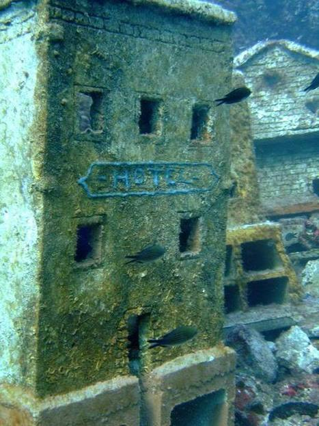 Abandoned 60s Film set: A Miniature Underwater City Before & After | Hitchhiker | Scoop.it
