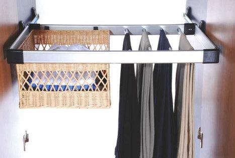 Aluminium-Trouser-Rack-with-Rattan-Basket   Modular-Kitchen   Scoop.it