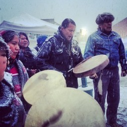 #IdleNoMore Protect the Peaks! - Native Youth Drummers Attacked by Snowbowl Supporter at City of Flagstaff Ski Event – Dew Downtown | Native Youth Drummers Attacked, racial insults hurled by lone snowboarder | Scoop.it