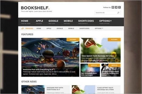 BookShelf - A multipurpose WordPress Theme - WP Daily Themes | Free & Premium WordPress Themes | Scoop.it