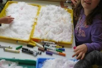 Making our mark in the snow | Teach Preschool | Teach Preschool | Scoop.it
