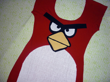 the red angry bird dress SAMPLE   Angry Birds   Scoop.it