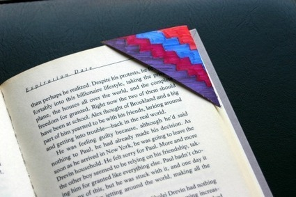 How To: Junk Mail Bookmarks - Crafting a Green World | Maker Lessons & Activities | Scoop.it