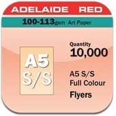1 Page A5 Flyers 100gsm Adelaide Red 10,000 | online printings Australia | Scoop.it