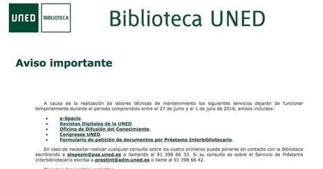 RIED y todas las revistas UNED, sin acceso hasta el próximo 1 de julio | Educación a Distancia y TIC | Scoop.it