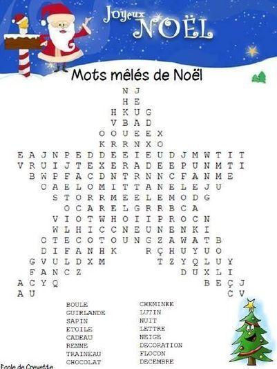 Mots mêlés de Noël | FLE enfants | Scoop.it