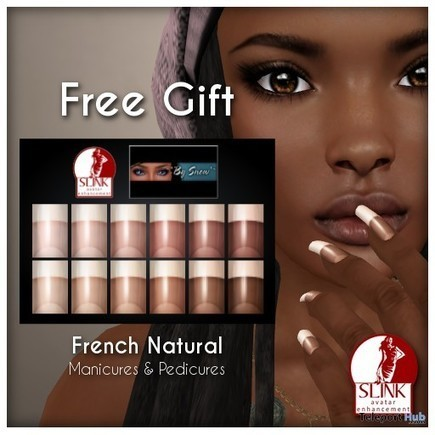 French Natural Slink Nail Applier Gift by By Snow | Teleport Hub - Second Life Freebies | Second Life Freebies | Scoop.it