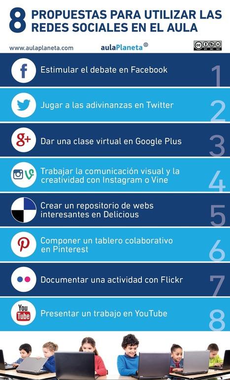 Ocho propuestas para utilizar las redes sociales en el aula. #RRSS @aulaPlaneta | Teachelearner | Scoop.it