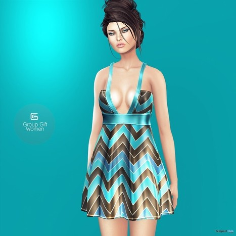 Blue Short Dress July 2015 Group Gift by Gizza Creations | Teleport Hub - Second Life Freebies | Second Life Freebies | Scoop.it