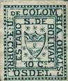 World's Smallest stamp ever. Bolivar 10c green 1863 Columbia. | Philatelie - Stamps Collection - Briefmarken Sammlung | Scoop.it