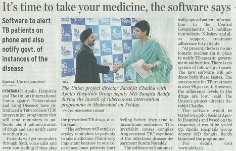 The Union teams with Apollo hospital to improve TB treatment adherence, notification   Public Health News   Scoop.it