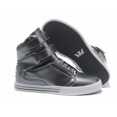 Tk Society Supra Women High Tops Silver and White Color Skate Shoes | my style | Scoop.it