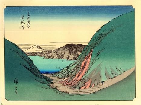 Vends véritables Estampes Japonaises Hiroshige de sa rare série des 36 Vues du Mont Fuji  - paris-vente-veritables-estampes-objets-art-japon.overblog.com | estampes japonaises | Scoop.it