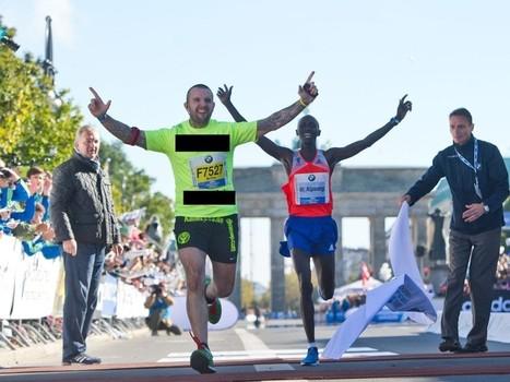 PHOTOBOMBER // Il pourrit le record du monde du marathon | Sport Marketing | Scoop.it